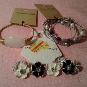 Jewelry - Lot of 3 Assorted Bracelets in Different Styles